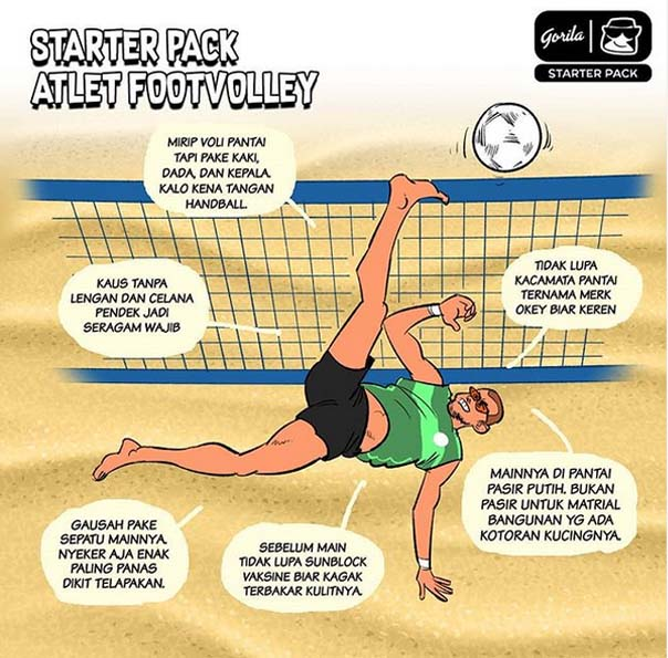 Starter Pack : Atlet Footvolley